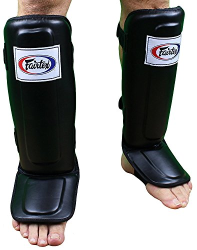 Fairtex Pro Style Shin Guards - Black - X-Large