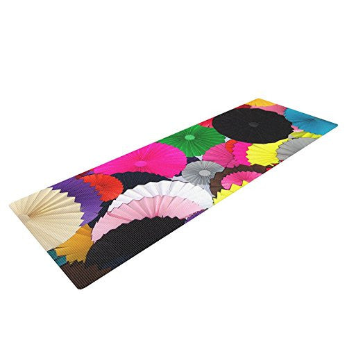 Kess In House Heidi Jennings Tempting Yoga Exercise Mat, Multicolored Circles, 72 X 24 Inch