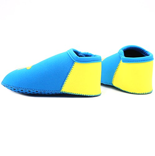 Suiek Baby Boys Girls Swim Water Shoes Infant Pool Beach Sand Barefoot Aqua Socks (S (Sole Length 4.