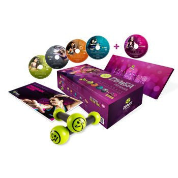 Zumba Fitness Exhilarate Body Shaping System With Toning Sticks [Includes 5 Dv Ds, Bonus Music Cd]