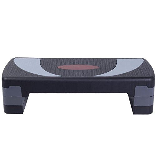 "30'' Fitness Aerobic Step Adjust 4"" - 6"" - 8"" Exercise Stepper w/Risers"