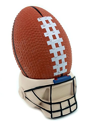 Football Stress Ball with Helmet Stand