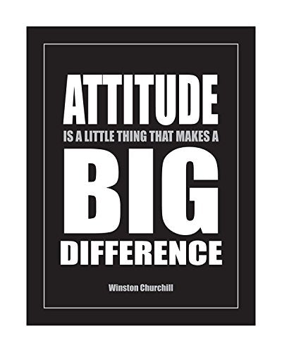 Fitnus Chart Series Attitude Is A Little Thing That Makes A Big Difference Inspirational Poster Blk/