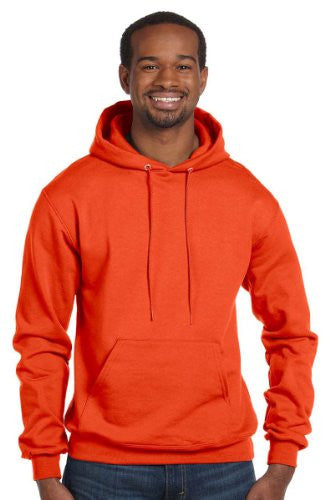 Champion Men's Front Pouch Pocket Pullover Hood, Orange, Small