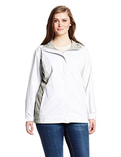 Columbia Women's Big Arcadia II Jacket Plus, White/Flint Grey, 2X