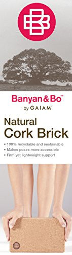 Gaiam Banyan And Bo Natural Cork Yoga Brick