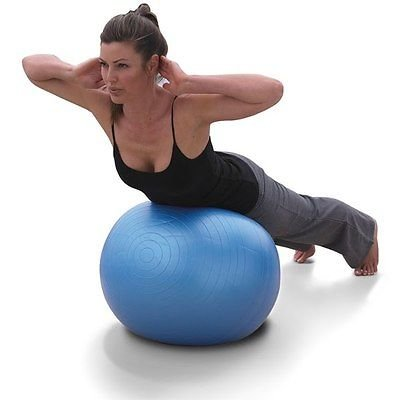 "Physio Balance Yoga Fitness 85cm Gym Exercise 33"" Inflatable G Ball Swiss Pe New"