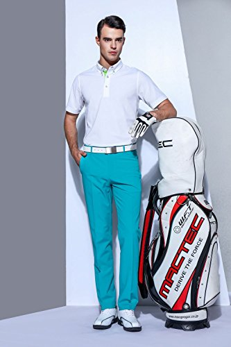 EAGEGOF Men's Shirts White Short Sleeve Tech Performance Golf Polo Shirt Loose Fit Small