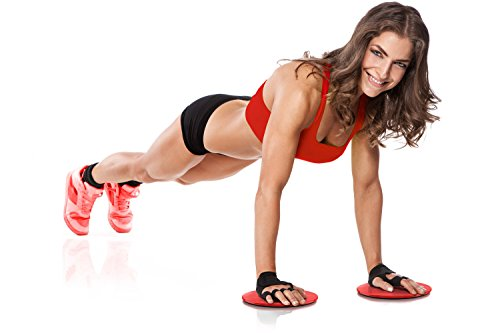 Workout Core Sliders Fitness Exercise And Resistance Loop Bands Bundle With Exercise E Book   Lightwe
