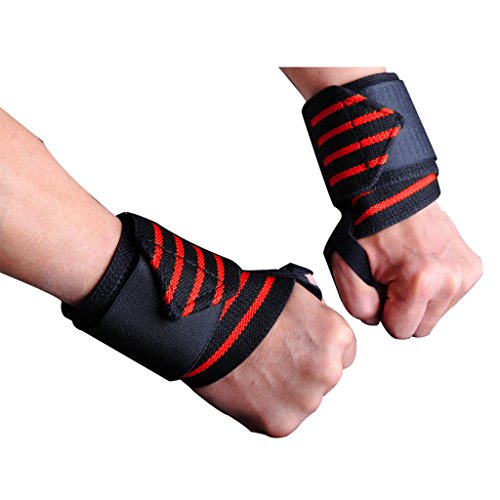 iiSPORT Weight Lifting Wrist Support, CrossFit Wrist Wraps for Power  Lifting, Dead Lifts, Pushups, B