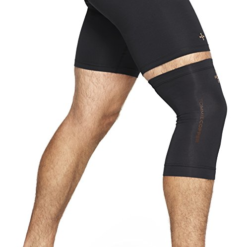 Tommie Copper   Unisex Compression Knee Sleeve   Black   Small
