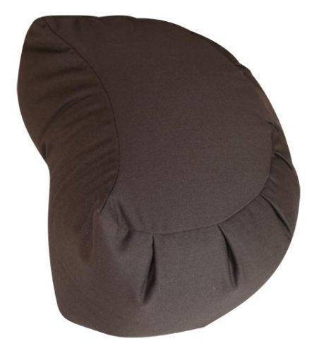 Buckwheat Crescent Zafu and Zabuton Meditation Cushion Set (2pc), Brown