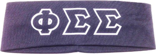 Key Your Spirit Phi Sigma Sigma Greek Letters Headband (Gray)