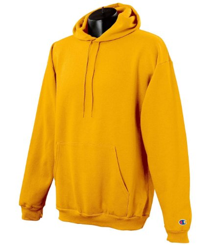 Champion Men's Front Pocket Pullover Hoodie Sweatshirt, Large, C-gold