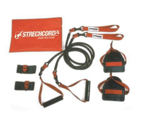 Strechcordz Modular Set ~ Green 8 24lbs ~ Swimmer's Wet & Dry Land Kit For Swimmer's Pull, Tricep Ex