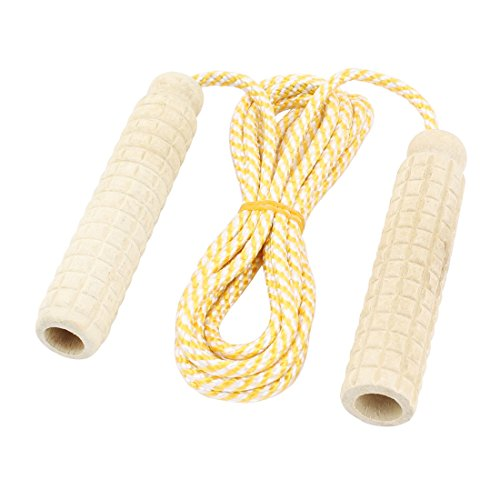 uxcell Plastic Antislip Handle Sports Exercise Jumping Rope 2 Meter Long Yellow