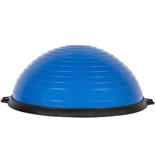 Oshion Exercise Fitness Blue Yoga Balance Trainer ball W/ Resistance Bands & Pump