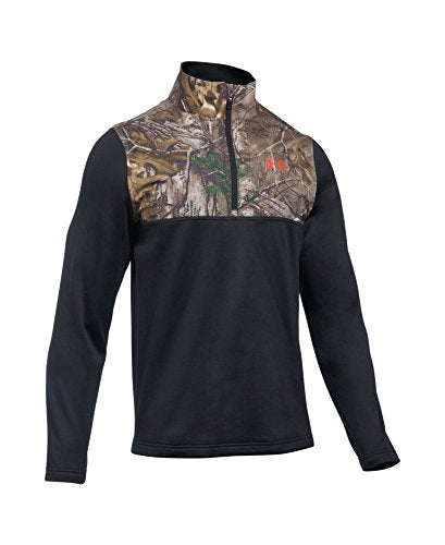 Under Armour Men's Caliber 1/4 Zip, Black/Realtree Ap-Xtra, Small