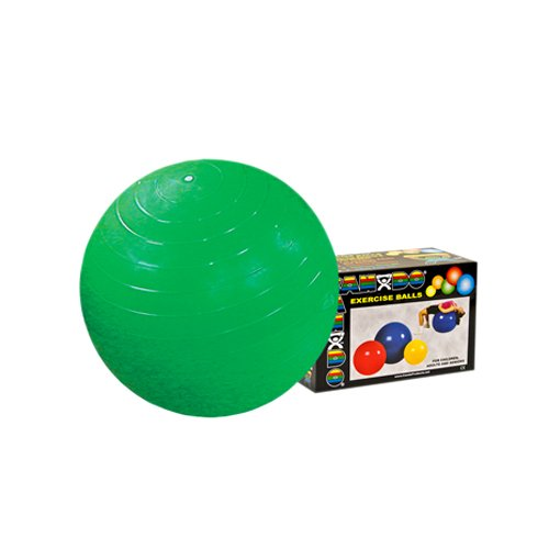 CanDo Abs Inflatable Ball, Green, 25.6 Inch