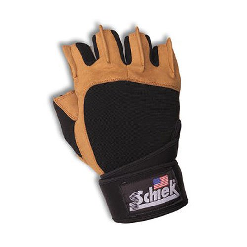 Schiek SSI-425-S Power Gel Lifting Gloves with Wrist Wraps 7 8 Small