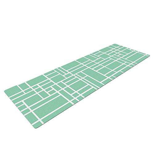 Kess In House Project M Map Outline Mint Exercise Yoga Mat
