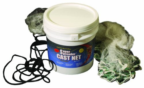 FITEC GS1000 Ultra Spreader Clear Fishing Cast Net by Fitec