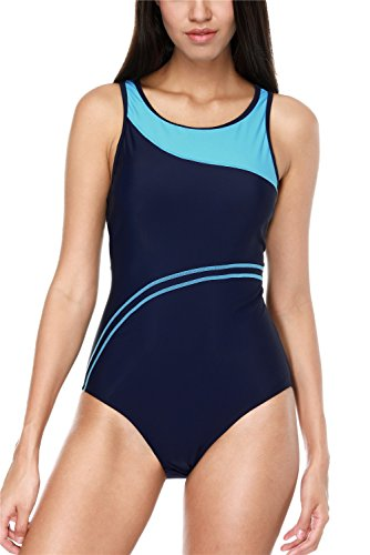 A Love Sports One Piece Swimsuit For Women Racerback Padded Bathing Suits Large
