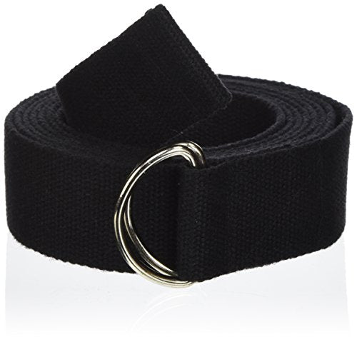 Yoga Direct 6-Feet Yoga Strap with D-Ring Style Buckle, Black