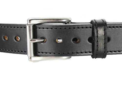 Daltech Force Bullbelt Gun Belt Steel Core - Ultimate Thickness - CCW - Concealed Carry USA - No Fillers - 100% Full Grain Leather (Black, 38) 1014DW-18