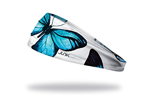 JUNK Brands Butterfly Effect Big Bang Lite Headband, White/Blue, One Size