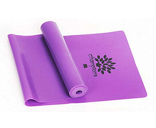 Panda Superstore High Grade Durable Colorful Yoga Strap Exercise Band Fitness Equipment,Purple