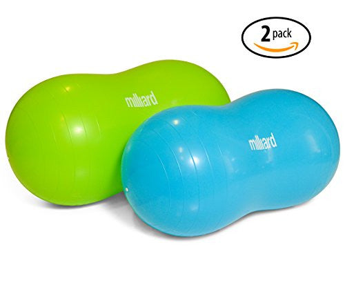 Milliard Peanut Ball Variety Pack   Approximate Sizes: Green 39x20 Inch (100x50cm) And Blue 31x15 In