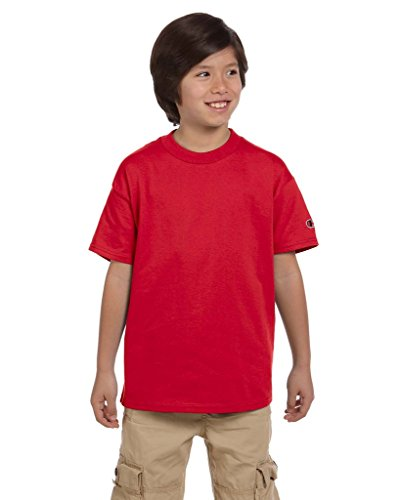 Champion Youth 6.1 Oz. Tagless T Shirt>Xl Red T435