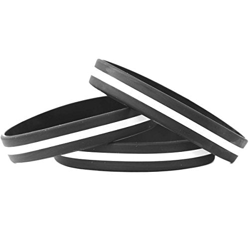 Sayit Bands Child Size Thin White Line Silicone Wristband Bracelets Emergency Medical Services Awaren