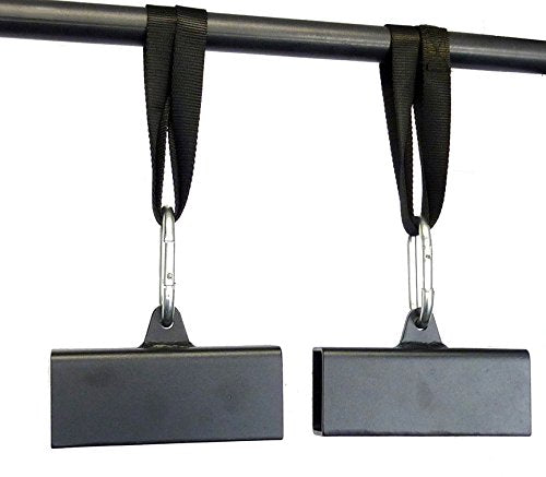 "Apollo Athletics 2"" x 3"" Steel Beam Pinch Block Grips with Straps (Pair) - Pull-Up Grips - Improve y"