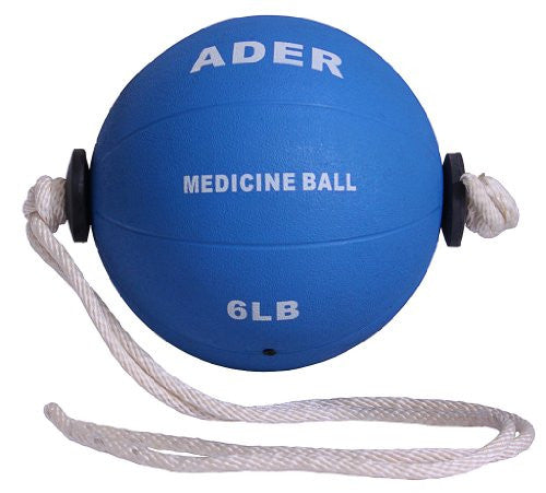 Ader Sporting Goods 6 Lb Power Rope Medicine Ball