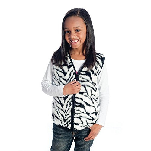 Weighted Vest In Zebra Fur Size: Large