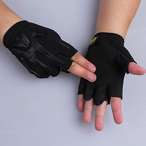 Comfspo Breathable Cycling Gloves with Shock-absorbing Pad Breathable Half Finger Bike Gloves Bicycl