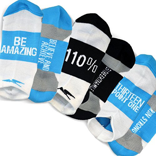 Gone For A Run Inspirational Athletic Running Socks   One Size Fits Most   Set Of 3 Pairs   Multicol