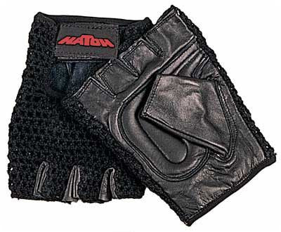 All Purpose Padded Mesh Wheelchair Gloves   Medium Color: Black