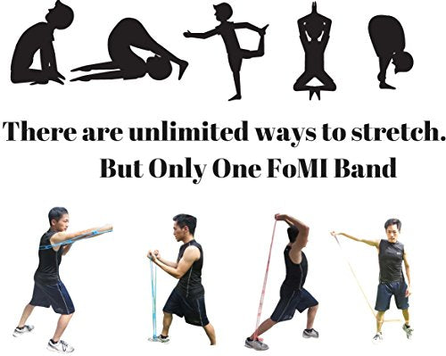 FOMI 7 Ring Stretch and Resistance Exercise Band | Back, Foot, Leg, and Hand Stretcher, Arm Exercise