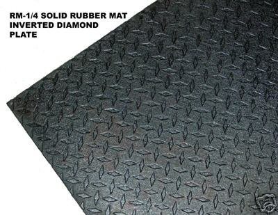 "Ader Sporting Goods 1/4"" 4'x6' Solid Rubber Gym Mat"