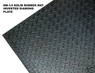 3'x7'x7.5mm Solid Rubber Mat For Ellipticals, Treadmills & Weights Area