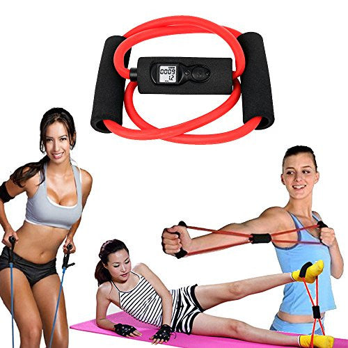 E Cost Connection Toner Resistance Band/Chest Expander With Calorie And Rep Counter