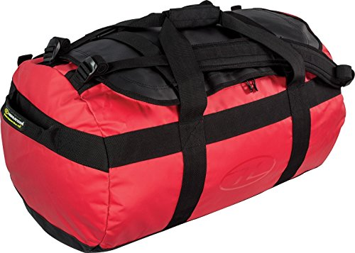 Lomond Tarpauline Duffle Bag - Red/Black, 65 Litres