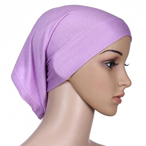 Herrico Fashion Solid Moisture Wicking Sports Headbands Soft And Comfortable Lavender