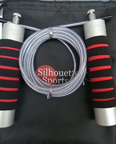 Silhouette Sports Pro Aluminum Jump Rope With Weighted Handles For Men & Women, Crossfit, Exercise,