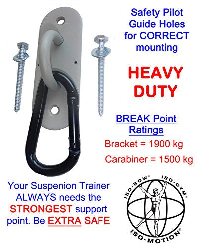 One Forged Steel Fitness Anchor Wall Mounts For Bodyweight Training With Commercial Carabiner (1)