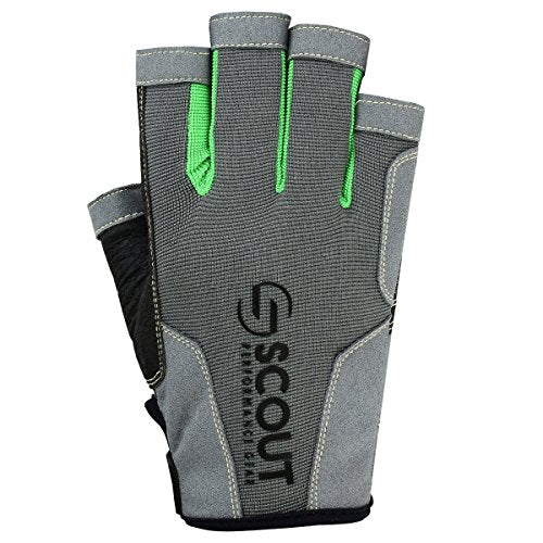 "New Sailing Gloves Kayak Yachting Rope Dinghy Fishing Waterski Sports Dexter Series Green (Medium(7.5""-8.5""))"