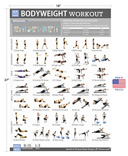Isometric Exercises Chart: (liveoakmiddleschool) Gym At Home Exercises